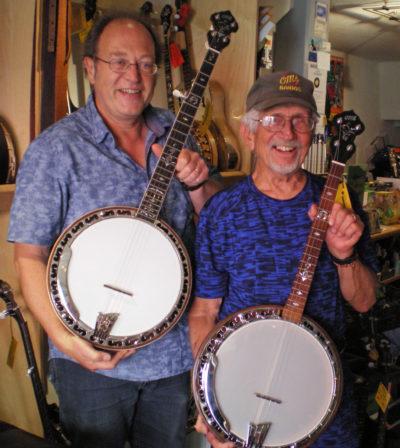 Charles Ogsbury (OME Banjos) & Franz 8.10.2016